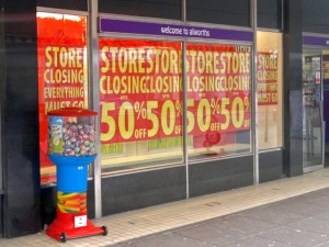 Closing down sale at Alworths in Llandudno (4 Mar 2011). Photograph by Dave Roberts