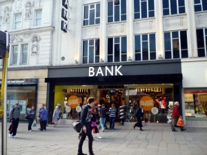 Bank, Northumberland Street, Newcastle (14 Mar 2011). Photograph by Graham Soult