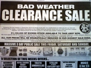 Collectables newspaper ad, 16 February 2011. Photograph by Graham Soult