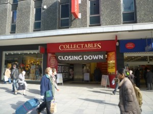 Collectables in Northumberland Street, Newcastle (14 Mar 2011). Photograph by Graham Soult