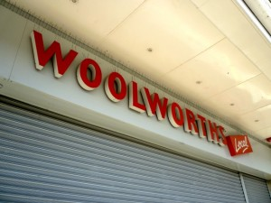 Former Woolworths, Newton Aycliffe (1 Mar 2011). Photograph by Graham Soult