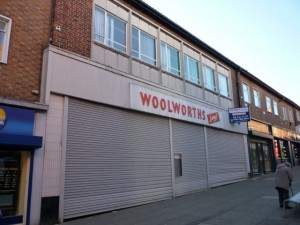 Former Woolworths, Peterlee (1 Mar 2011). Photograph by Graham Soult