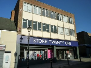 Former Woolworths (now Store Twenty One), Houghton-le-Spring (1 Mar 2011). Photograph by Graham Soult
