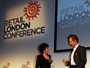 Ruby Wax and Andy Bond at the Retail London Conference
