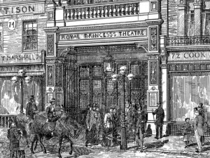 1880s print of Royal Princess's Theatre, Oxford Street