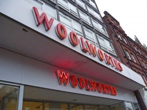 Former Woolworths, Finchley Road (16 Jan 2009). Photograph by Christine Matthews
