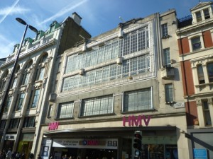 HMV's Oxford Street flagship in HMV's Oxford Street flagship in London - poignantly, once a Woolworths (6 Apr 2011). Photograph by Graham Soult
