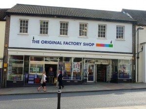 Former Woolworths (now The Original Factory Shop), Chepstow (24 Mar 2011). Photograph by Alastair Leaver