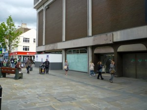 Former BHS, Northumberland Street, Newcastle (10 May 2011). Photograph by Graham Soult