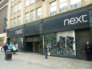 Former Next, Northumberland Street, Newcastle (10 May 2011). Photograph by Graham Soult