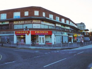 North Kenton shops (10 Nov 2010). Photograph by Graham Soult