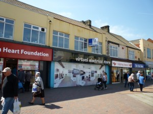 One of Redcar's virtual shops (4 May 2011). Photograph by Graham Soult
