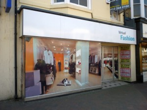 Virtual fashion store, Redcar (4 May 2011). Photograph by Graham Soult
