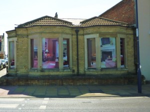 Virtual house, Redcar (4 May 2011). Photograph by Graham Soult