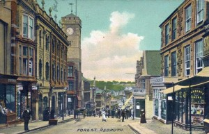 Postcard of Fore Street, Redruth, c.1915