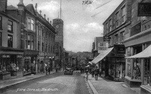 Postcard of Fore Street, Redruth, c.1931