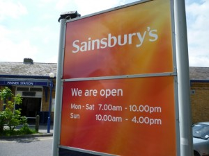 Sainsbury's, Pinner (14 May 2010). Photograph by Graham Soult