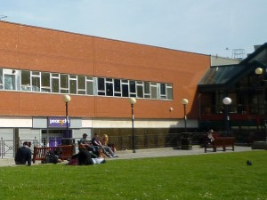 Queen's Parade frontage of former Woolworths, Hartlepool (4 May 2011). Photograph by Graham Soult