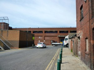 Back of Hillstreet - minus its Woolies sign (4 May 2011). Photograph by Graham Soult