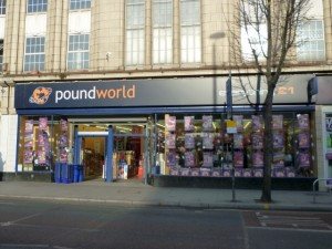 Poundworld store, West Ealing (24 Nov 2010). Photograph by Graham Soult