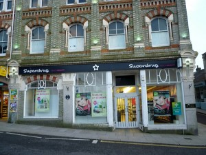 Former Woolworths (now Superdrug), Redruth (19 Feb 2011). Photograph by Graham Soult