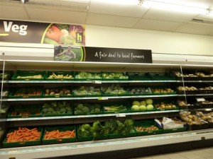 Fresh produce in Haldanes store (28 Apr 2011). Photograph by Bryan Roberts
