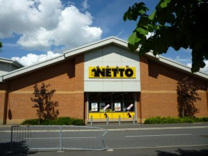 ...and in its former guise as Netto (28 May 2010). Photograph by Graham Soult