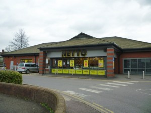 Former Netto, Tamworth, before conversion to Morrisons (4 Apr 2011). Photograph by Graham Soult