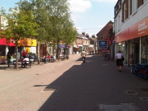 Swadlincote's two Poundstretchers (2 Jun 2011). Photograph by Martin Jarvis