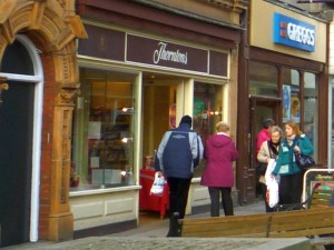 Thorntons, Bishop Auckland (24 Jan 2011). Photograph by Graham Soult