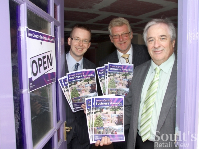 Stockton Town Centre Business Awards judges, including me on the left