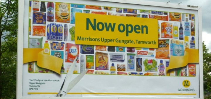 Promotion for Tamworth's new Morrisons (17 Jun 2011). Photograph by Graham Soult