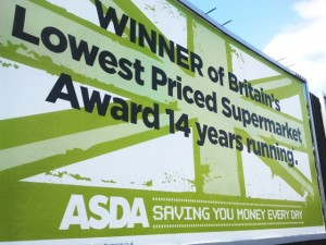 Asda billboard, Gateshead (26 Jun 2011). Photograph by Graham Soult
