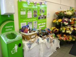 'Asda in your Community' display, Asda Supermarket, Gateshead (8 Aug 2011). Photograph by Graham Soult