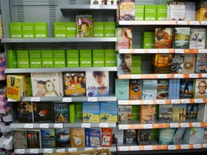 Books aisle, Asda Supermarket, Gateshead (8 Aug 2011). Photograph by Graham Soult