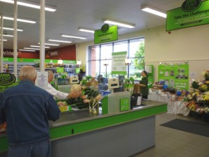 Checkouts, Asda Supermarket, Gateshead (8 Aug 2011). Photograph by Graham Soult