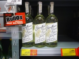 Belvoir Elderflower Pressé at Asda Supermarket, Gateshead (8 Aug 2011). Photograph by Graham Soult