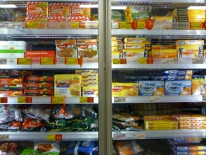 Frozen aisle, Asda Supermarket, Gateshead (8 Aug 2011). Photograph by Graham Soult