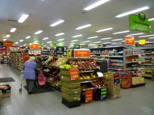 Interior of Asda Supermarket, Gateshead (8 Aug 2011). Photograph by Graham Soult