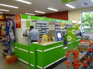Kiosk, Asda Supermarket, Gateshead (8 Aug 2011). Photograph by Graham Soult