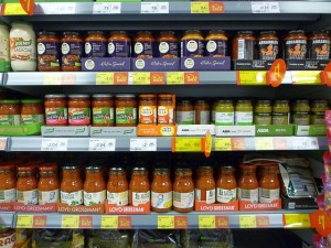 Pesto at Asda Supermarket, Gateshead (8 Aug 2011). Photograph by Graham Soult