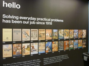 Catalogues wall, Clas Ohlson, Newcastle (23 Aug 2011). Photograph by Graham Soult