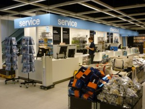 Checkouts, Clas Ohlson, Newcastle (23 Aug 2011). Photograph by Graham Soult