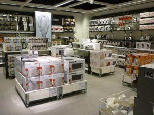 Kitchen products, Clas Ohlson, Newcastle (23 Aug 2011). Photograph by Graham Soult