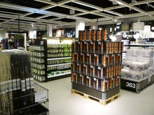 Lighting products, Clas Ohlson, Newcastle (23 Aug 2011). Photograph by Graham Soult