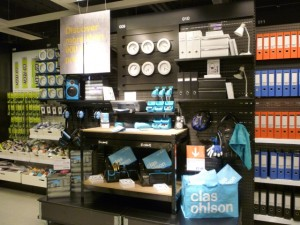 Stationery, Clas Ohlson, Newcastle (23 Aug 2011). Photograph by Graham Soult