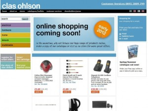 Clas Ohlson website (10 Aug 2011)