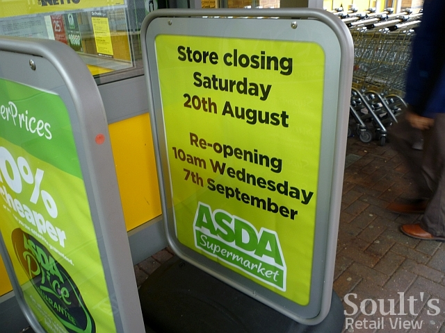 Notice at Netto North Shields (8 Aug 2011). Photograph by Graham Soult