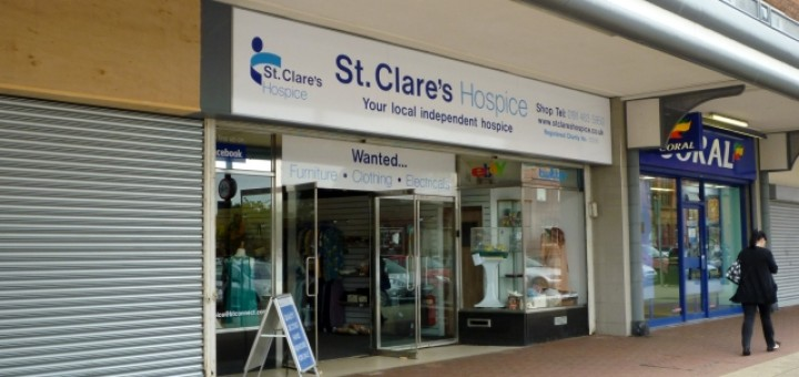St Clare's Hospice shop, Jarrow (8 Aug 2011). Photograph by Graham Soult