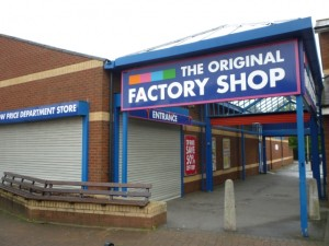 Former Woolworths (now The Original Factory Shop), Nailsea (21 Aug 2011). Photograph by Graham Soult
